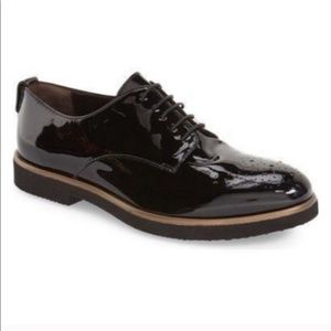 AGL Parker Brogues in Black Patent Leather
